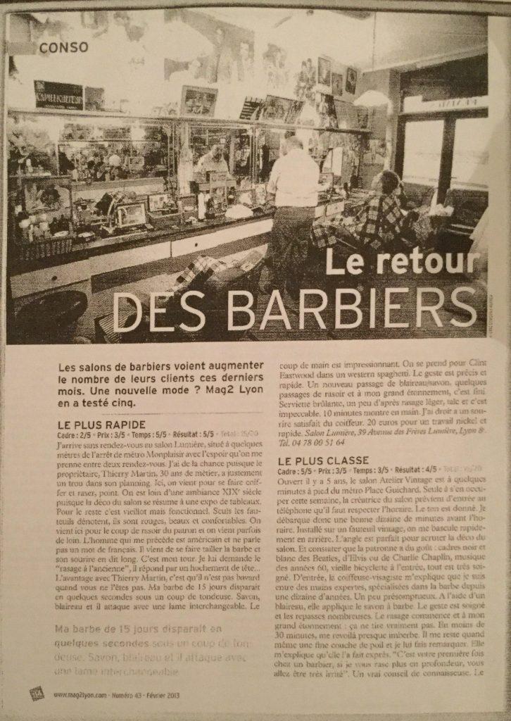 mag 2 lyon le plus classe f vrier 2013 l 39 atelier vintage lyon. Black Bedroom Furniture Sets. Home Design Ideas