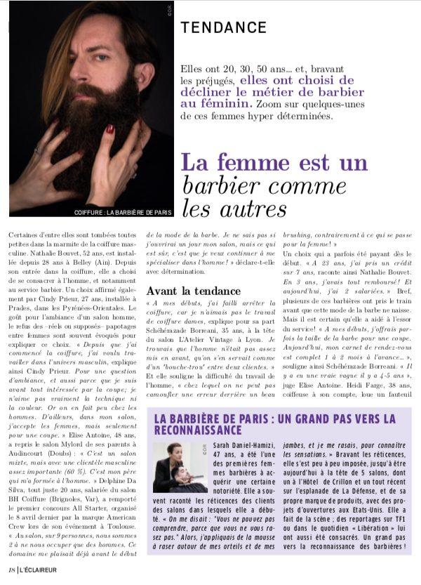Article de presse barbieres L'Eclaireur 2